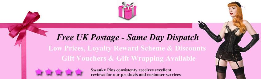 Free UK delivery on all lingerie and hosiery